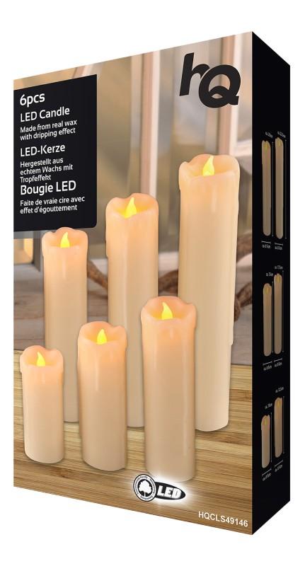 Weihnachtsbeleuchtung Innen Kerzen.Hqcls49146 Weihnachtsbeleuchtung 6 Led Warmweiss Innen